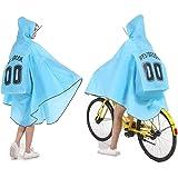 レインコート ポンチョ カッパ 雨具 自転車 バイク リュック対応 安全反射警告テープ 収納袋 EVA 150-190cm 学生 通学