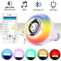 Shengshou LED電球スピーカー 高音質 音楽電球 スピーカー内蔵 調光調色 音楽再生 省エネ マルチカラー ワイヤレス リモコン操作 スマホ操作 Bluetooth4.0 27口金 対応