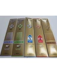 Gonesh Incense Sticks Variety Value Pack (100 Sticks) Lavender/Sandalwood/Jasmine/Spring Mist/Orchard & Vines