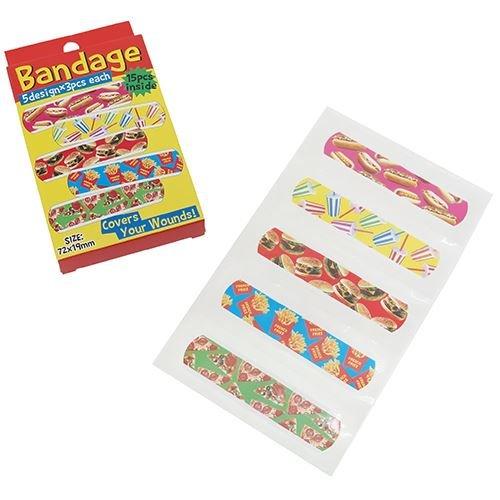 ジャンクフード[絆創膏]BANDAGE オクタニコーポレーション 日本製 おもしろ雑貨 グッズ 通販