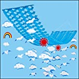 夏のマリンブルー装飾 カモメ虹サマーハンガー L150cm【夏?海?ディスプレイ?装飾?飾り】  7619