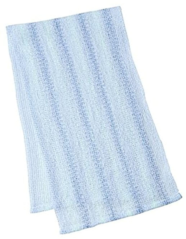 マーナ ウォーターカラー ボディタオル ブルー B443B