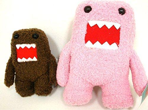 Domo Brown 6 and Pink 10 Plush...