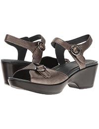 (ダンスコ) Dansko レディースサンダル?靴 June Pewter Nappa US Women's 7.5-8 24-24.5cm Regular [並行輸入品]