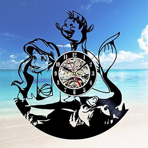 Ariel Gift Art Decor Wall Clock Home Record Vintage Decoration - Win a prize for feedback Vinyl Evolution