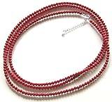 真紅の血赤珊瑚4mmロングネックレス120cm