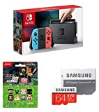 Nintendo Switch Joy-Con (L) ネオンブルー/ (R) ネオンレッド+ニンテンドープリペイドカード4000円 (Minecraft) +Samsung microSDXCカード 64GB EVO Plus Class10 UHS-I U3対応