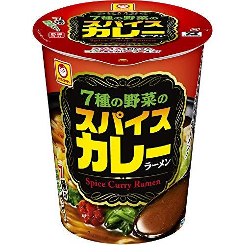 マルちゃん 7種の野菜のスパイスカレーラーメン 93g ×12個