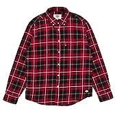 (ディッキーズ)DICKIES 裏起毛綿ビエラチェックL/S-BDシャツ 154M20WD04 RBW レッドxブラックxホワイト XL