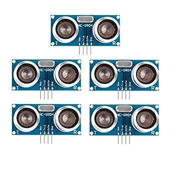 HiLetgo 5個セット HC-SR04 超音波距離センサーモジュール Arduino UNO Mega2560/Raspberry Pi B+Robot ロボットに交換 [並行輸入品]