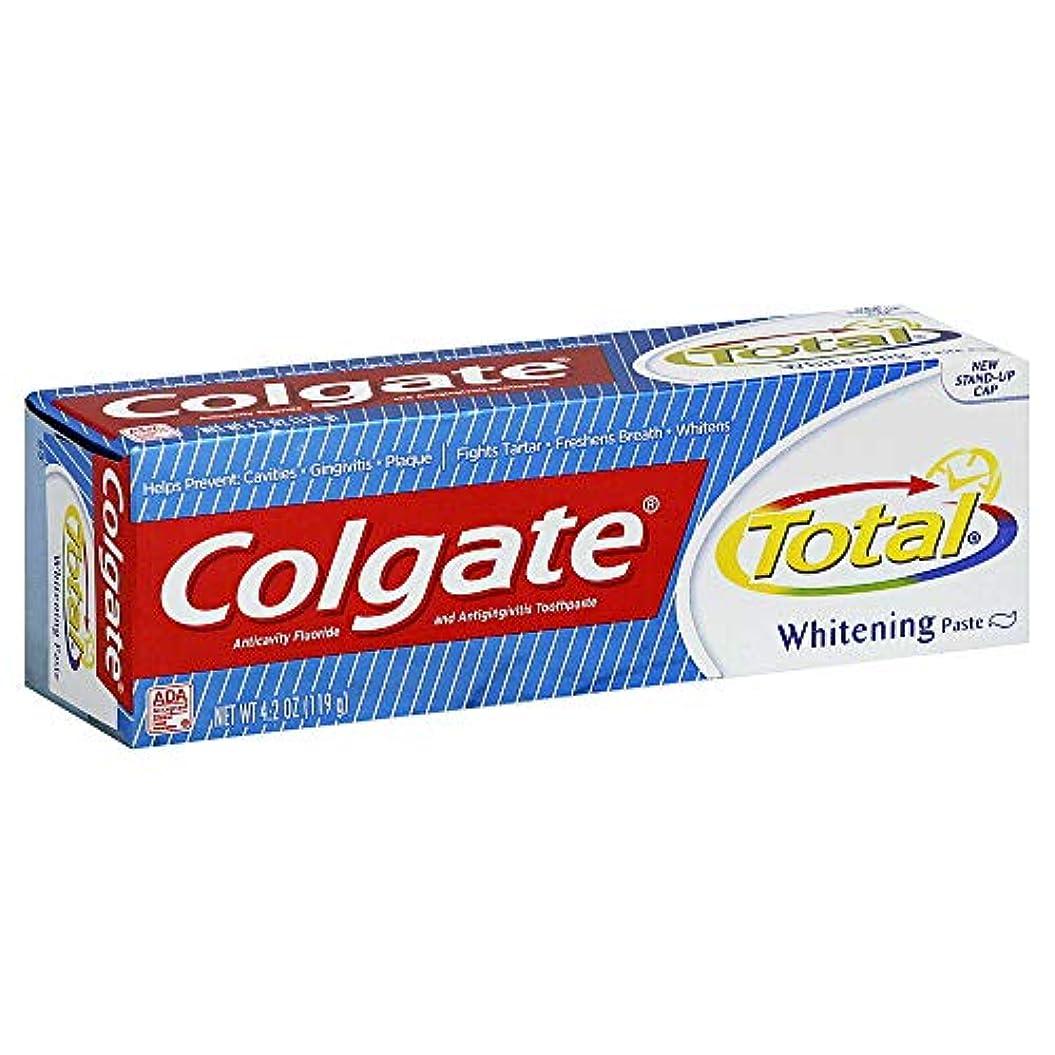 湿原怪物忠誠Colgate 総歯磨きプラスホワイトニング貼り付け4.20オズ(4パック) 4パック