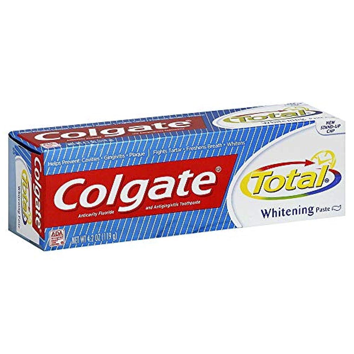 下に肘架空のColgate 総歯磨きプラスホワイトニング貼り付け4.20オズ(4パック) 4パック
