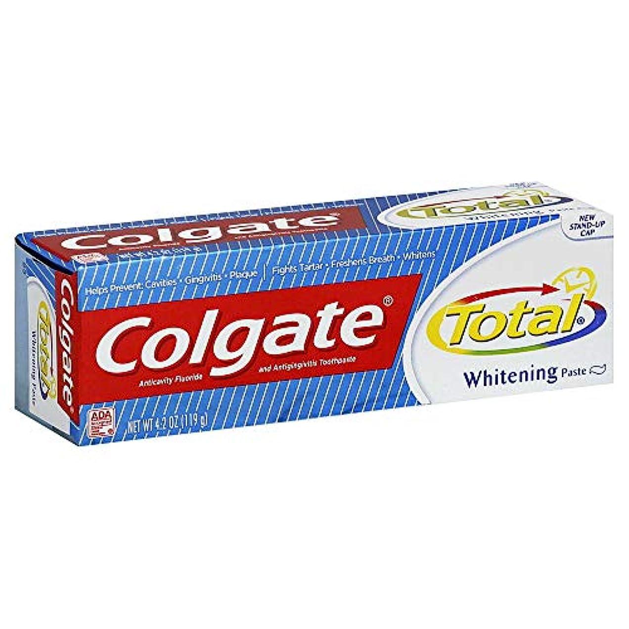 衝突コースアピール廃止Colgate 総歯磨きプラスホワイトニング貼り付け4.20オズ(4パック) 4パック