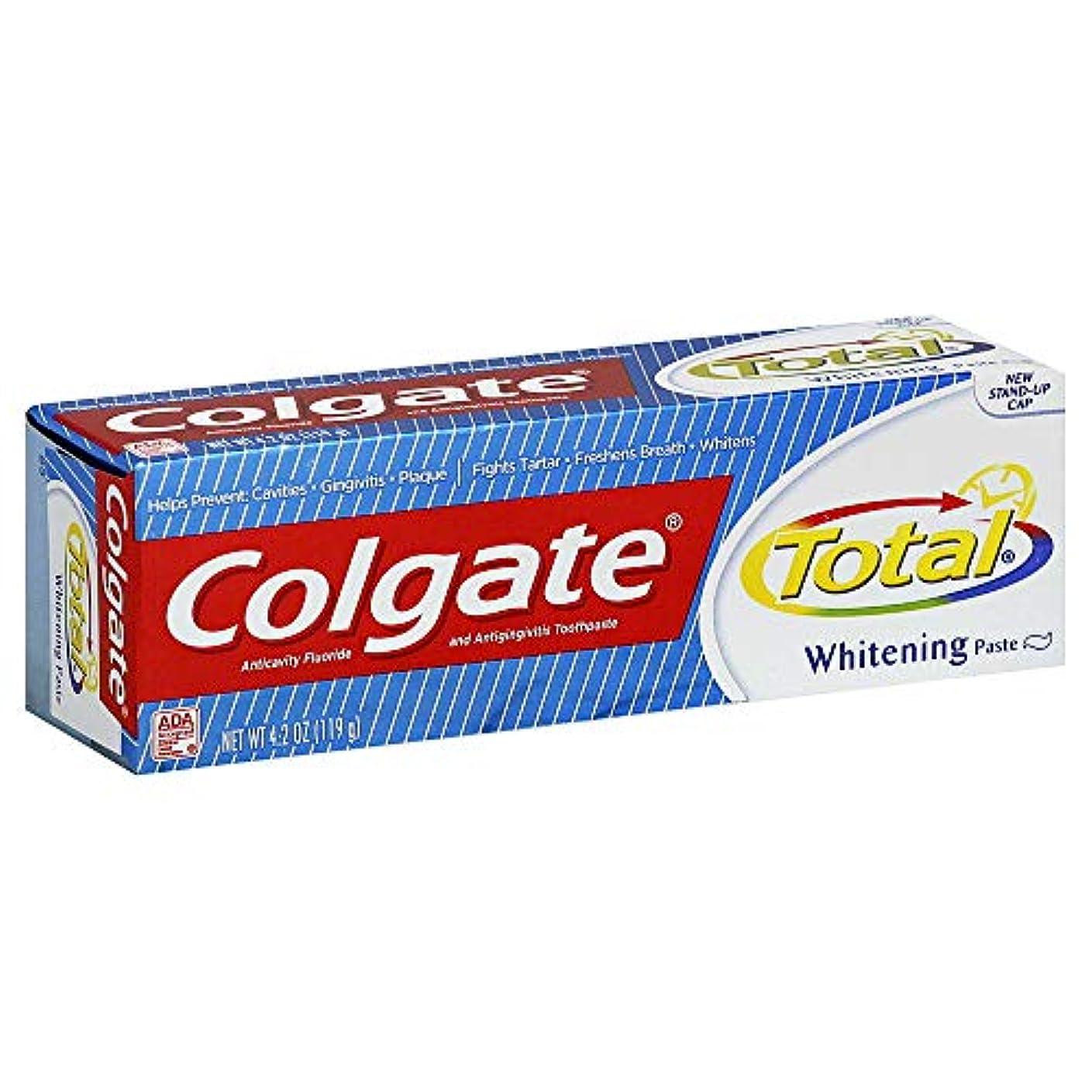 温室仕える哲学博士Colgate 総歯磨きプラスホワイトニング貼り付け4.20オズ(4パック) 4パック