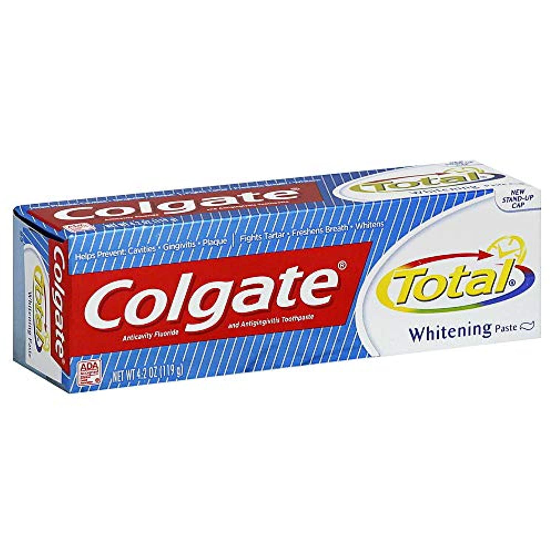 Colgate 総歯磨きプラスホワイトニング貼り付け4.20オズ(4パック) 4パック