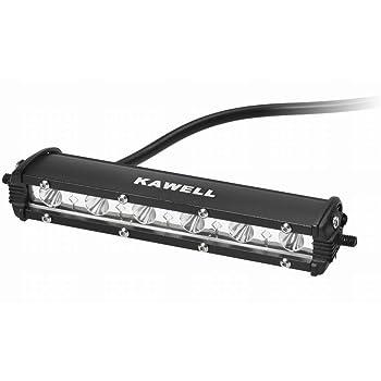 KAWELL 18W CREE製 LED ワークライト 作業灯 荷台灯 路肩灯 補助灯 狭角 長型 IP67防水防塵 12v 24v 一年保証