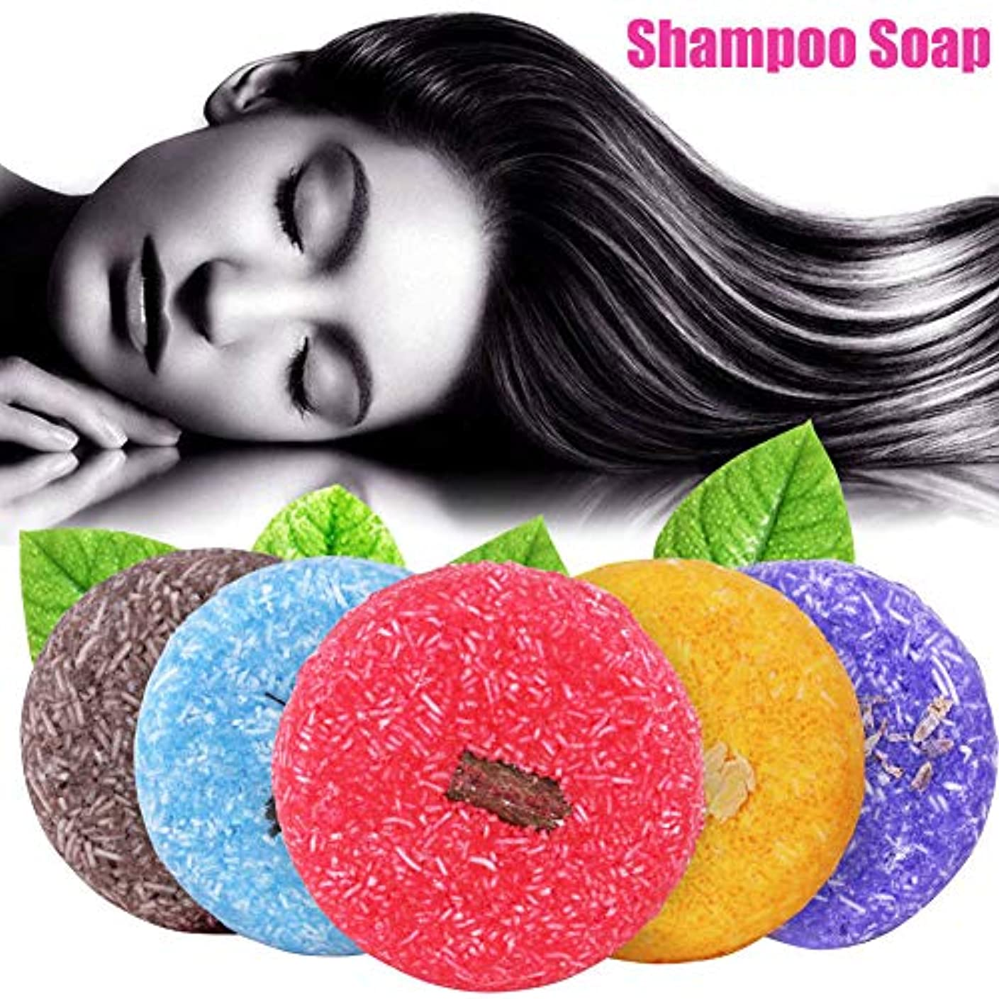 とげのある絶壁粘着性石鹸 - Delaman 洗髪石鹸、シャンプー、頭皮ケア、ビューティ、クリームバー、センシティブマイルド、14種類、男女兼用 (Color : #4ジャスミン(JASMINE))