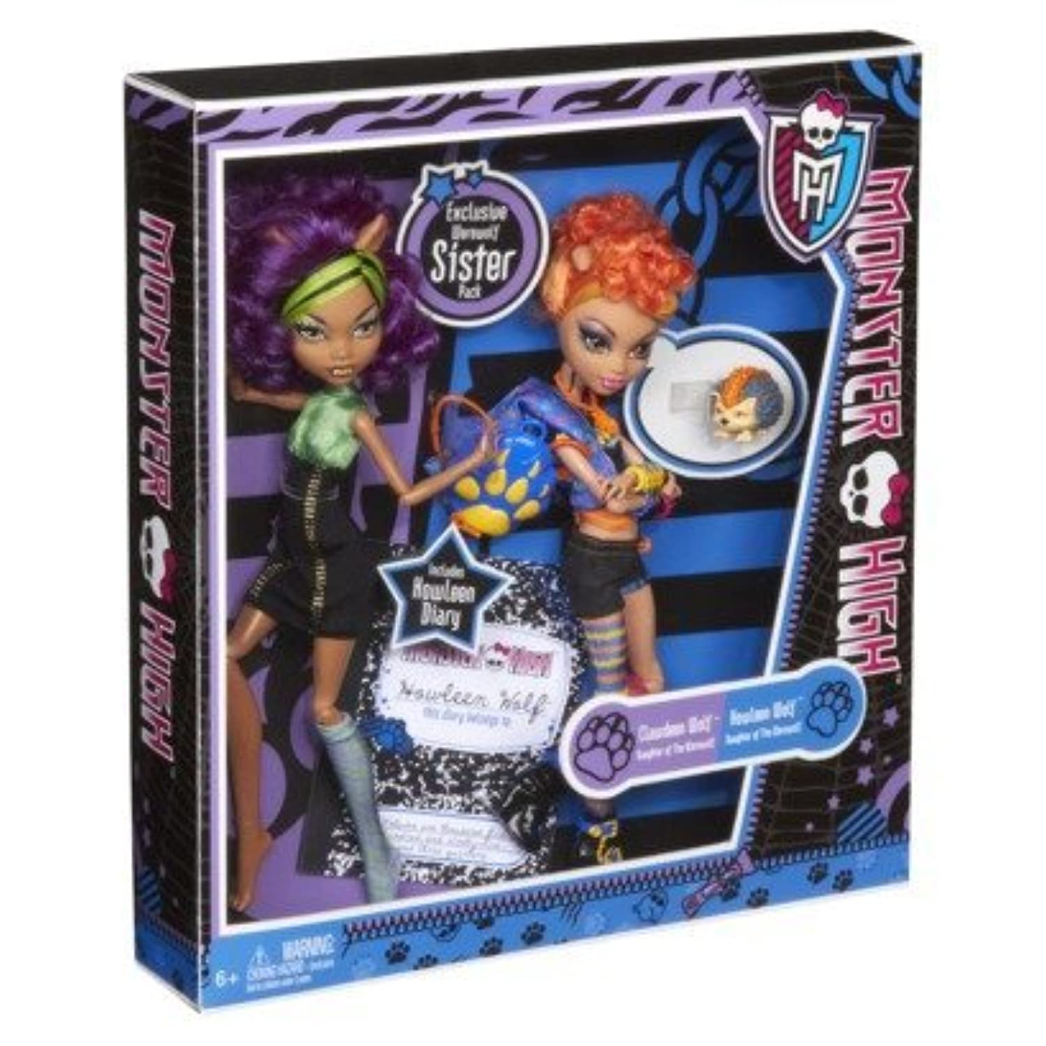 Monster High Wolf sisters Clawdeen and Howleen Wolf [並行輸入品]
