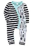ベビーポルカドット 新生児 幼児 女の子 綿100% 矢印 ロンパース 0-2歳設定 長袖 (90cm, 緑)