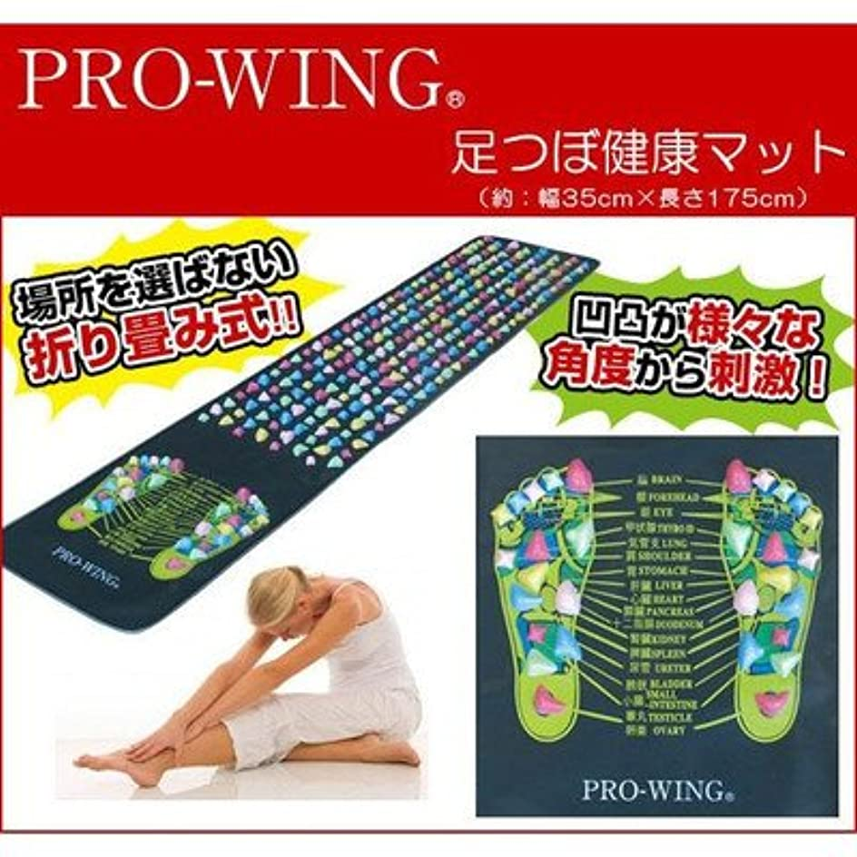 テレビ国家事カラフルで可愛らしい凹凸が様々な角度から刺激 PRO-WING プロウィング 足つぼ健康マット PWF-1001
