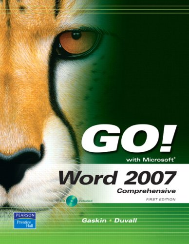 Download GO! with Word 2007, Comprehensive Value Pack (includes myitlab for GO! with Microsoft Office 2007 & Microsoft Office 2007 180-day trial 2008) 0138140901