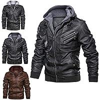 Eudsa Vasd Anarchist Leather Jacket, Removable Hood Genuine Leather Outwear