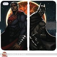 art of DC 手帳型 V30+ L-01K(G006202_05) 専用 アメコミ バットマン スーパーマン pop art センス 個性的 スマホケース