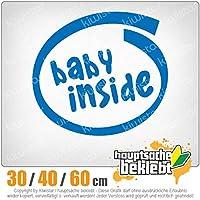 Baby inside - 3つのサイズで利用できます 15色 - ネオン+クロム! ステッカービニールオートバイ