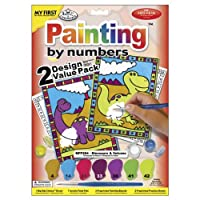 """My First Paint By Number Kit 8.75""""X11.375"""" 2/Pkg, Dinosaurs & Volcano"""