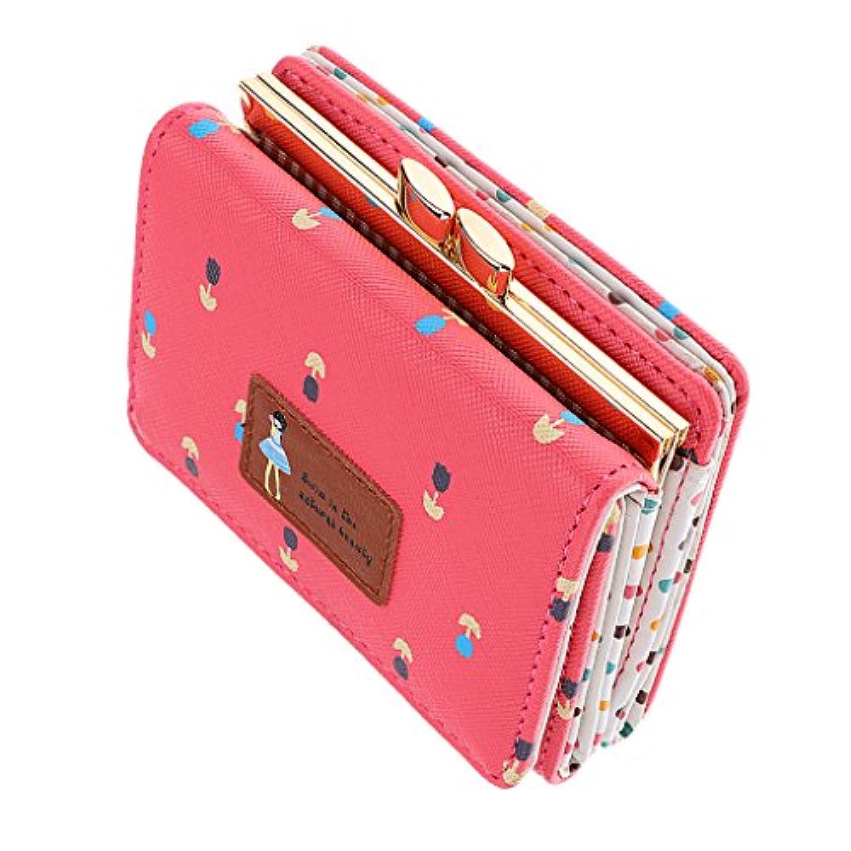 GRALARA レディース  ウォレット  クラッチ カード ホルダー 二つ折り 財布 ショート ハンドバッグ 多機能 全6色