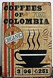 【ノーブランド品】 ビンテージ風 ブリキ サインプレート コロンビア メキシカン ジャマイカ coffee 3枚セット