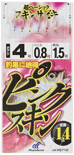 これ一番 ピンクスキンサビキ 6本鈎 4-0.8 HS710-4-0.8