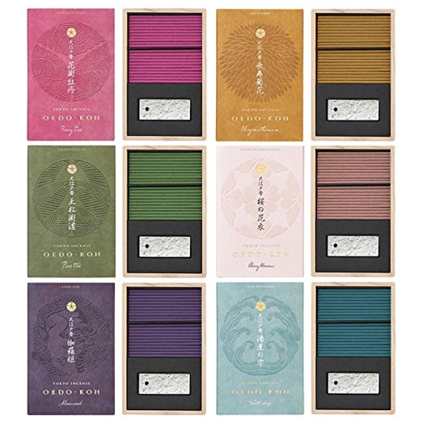 アラバマ表示フラップ日本香堂 大江戸香 6種セット