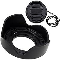 Fotodioxリバーシブルレンズフードキットfor Sony E PZ 16–50mm f3. 5–5.6OSS e-mount電源ズームレンズフード、リバーシブルチューリップ花W/キャップF / Sonyキットレンズ