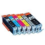 キャノン(CANON) 6色 【大容量】 互換 インクカートリッジ BCI-370 / BCI-370XL (純正同様の顔料ブラック)/ BCI-371 / BCI-371XL 残量表示チップ搭載 トリプル保証 ベルカラー