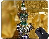 注文の元のヒョウシリーズマウスパッド、飾り仏仏像のゴム製マウスパッド