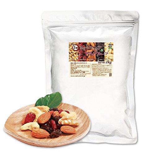 ミックスナッツ5種 (アーモンド30% 生くるみ25% カシューナッツ15% レーズン15% クランベリー15%) 1kg
