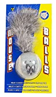 Petsport Mouse Ball Nuclear Strength Catnip Drag Tail Jingle Bell Rattle Toy 1pk