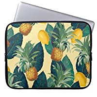 UDDESIGNパイナップルレモン黄色 13.3インチ PCインナーバッグ 防水 マックブックケース ラップトップ ノートパソコン/MacBook Pro用