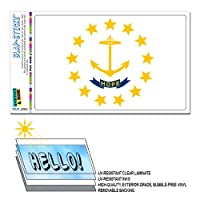 ロードアイランド州旗 SLAP-STICKZ(TM)プレミアムステッカー