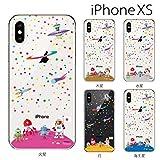 星空(宇宙) と宇宙飛行士と惑星【水星】/ iPhoneXS (5.8) ケース カバー