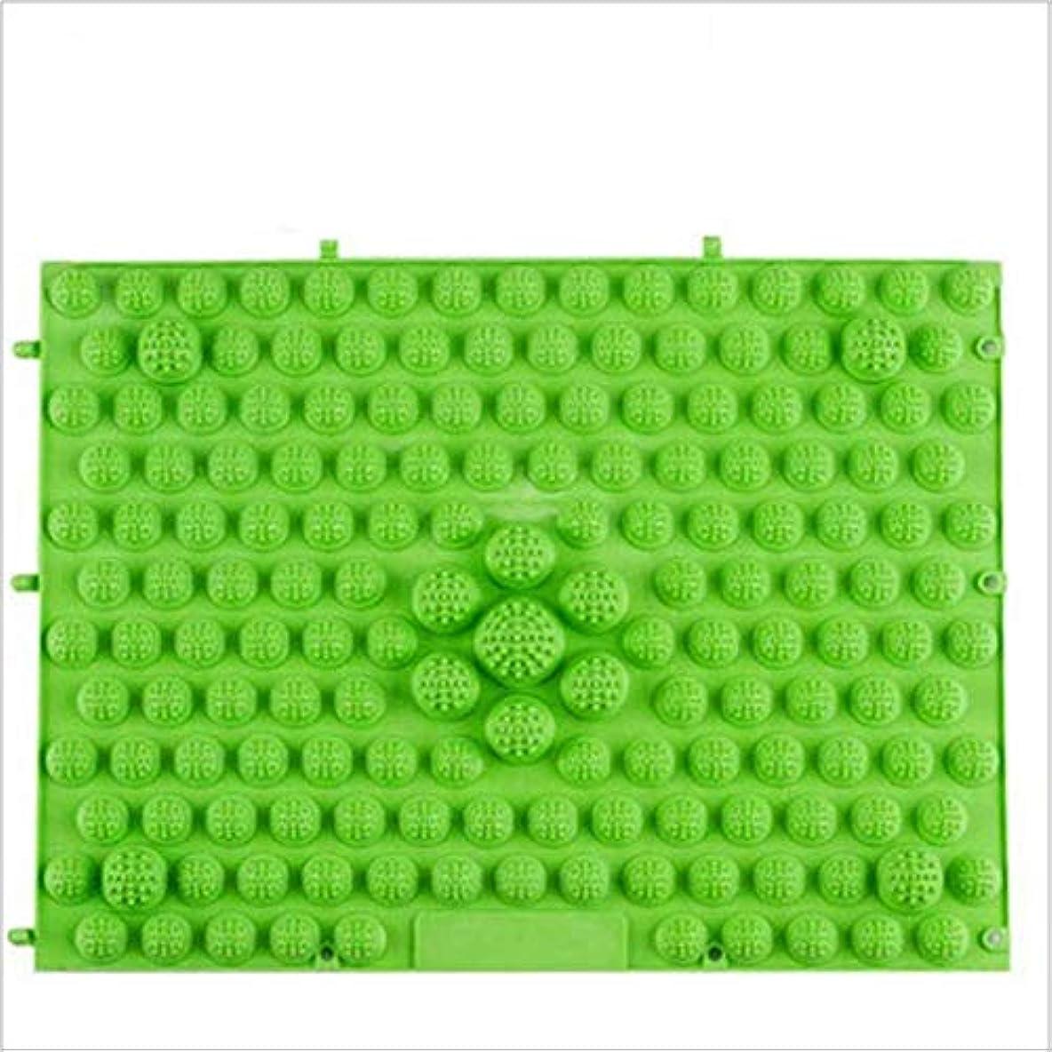 再発するグリットロードされたウォークマット 裏板セット(ABS樹脂製補強板付き) (グリーン)