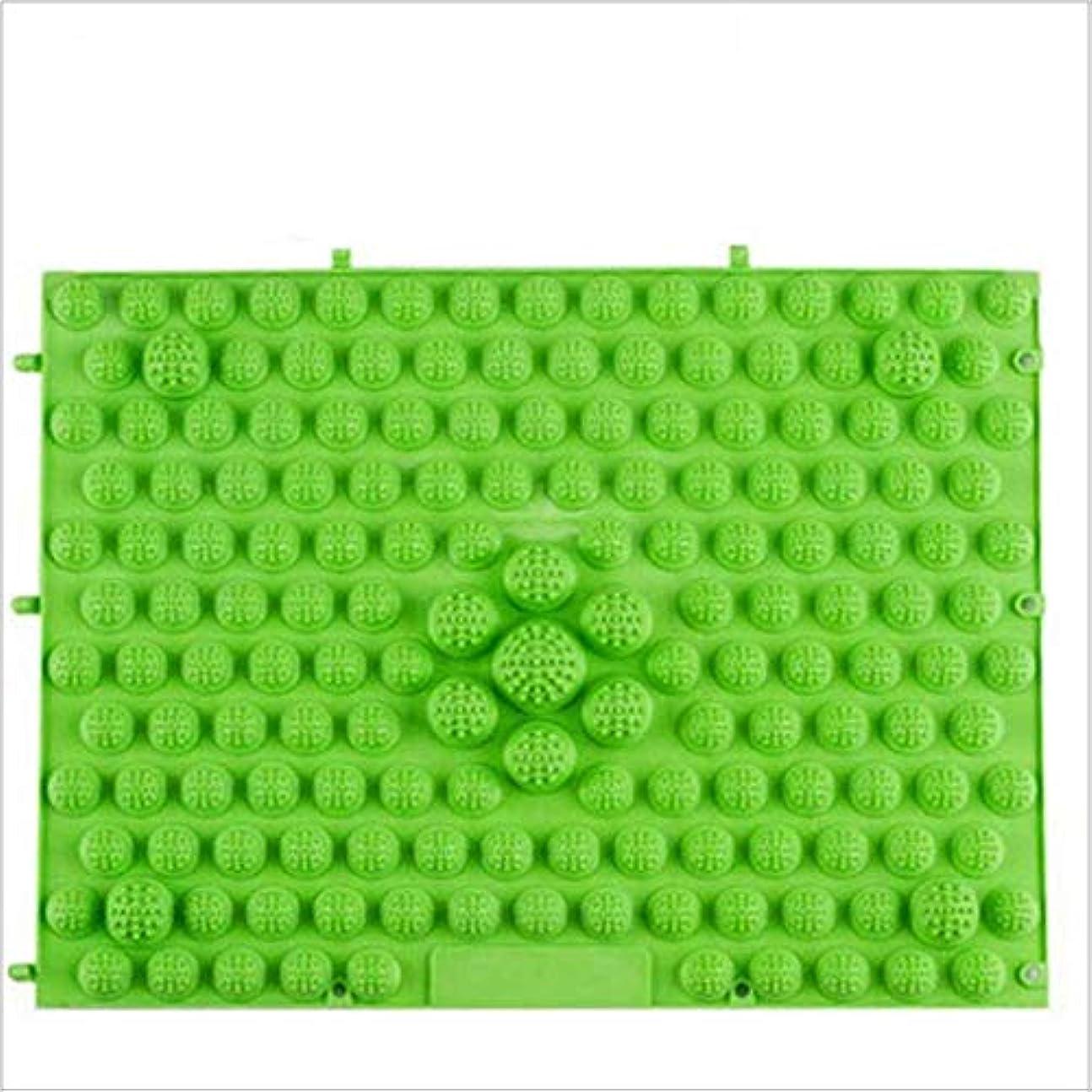 請負業者乱雑なポテトウォークマット 裏板セット(ABS樹脂製補強板付き) (グリーン)