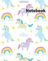 Notebook: Hand Drawn Several Unicorn With Cute Rainbow Pattern:book : Diary, Notebook Lined,blank No Lined