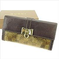 グッチ GUCCI Wホック財布 長財布 二つ折り財布 財布 レディース 181641 クリスタルGG 中古 T2689