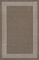 Momeni Rugs MESA0MES-8NAT3656 Mesa Collection 100% Wool Hand Woven Flatweave Transitional Area Rug 3'6 x 5'6 Natural Brown [並行輸入品]