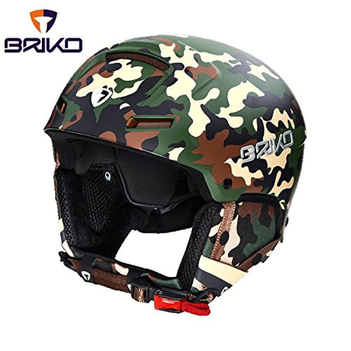 [해외] BRIKO FAITO 스키 헬멧 20001M0 A65(매트 군대 카모)- (SIZE:M-L)