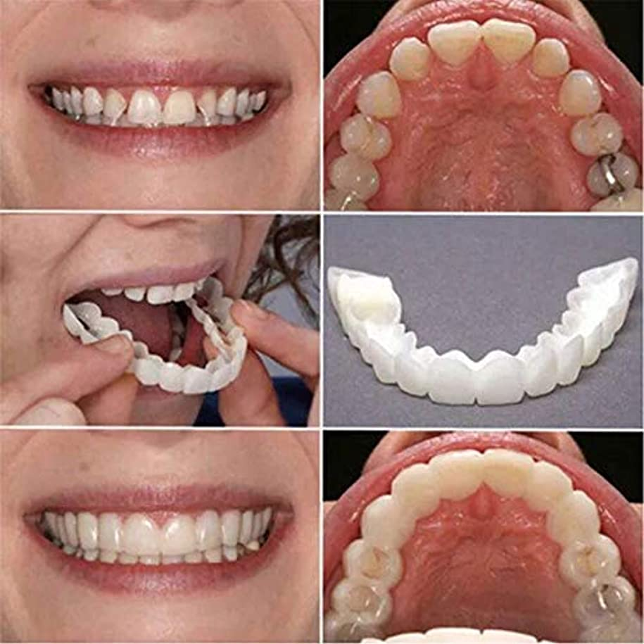 バスタブ対応するアレキサンダーグラハムベル2個の歯ピースフィッティング快適なフィット歯のソケット義歯口腔用品矯正アクセティース 笑顔を保つ