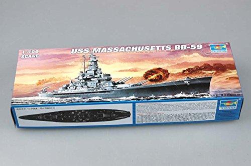 トランペッター 1/700 米海軍 サウスダコタ級 戦艦 BB-59 マサチューセッツ プラモデル[並行輸入品]
