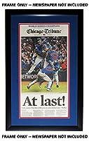 Chicago Tribune 新聞フレーム - キューブダブルマット付き